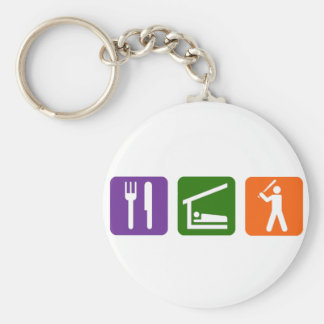 Eat Sleep Baseball Keychain