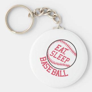 Eat, Sleep, Baseball Basic Round Button Keychain