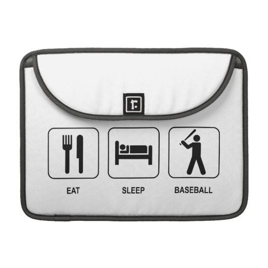 "Eat Sleep Baseball Macbook Pro 13"" Sleeve"