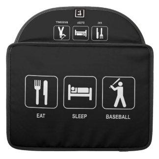 "Eat Sleep Baseball Macbook Pro 15"" Sleeve"