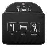 "Eat Sleep Baseball Macbook Pro 15"" Sleeve MacBook Pro Sleeve"