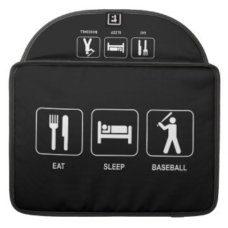"Eat Sleep Baseball Macbook Pro 15"" Sleeve Sleeve For MacBooks"