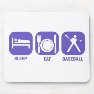 Eat Sleep baseball Mouse Pad