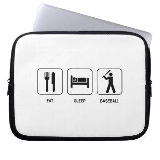 Eat Sleep Baseball Neoprene Laptop Sleeve