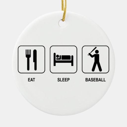 Eat Sleep Baseball Ornament