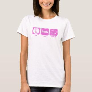 eat sleep baseball pink T-Shirt
