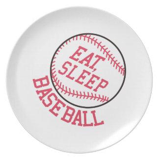 Eat, Sleep, Baseball Plate