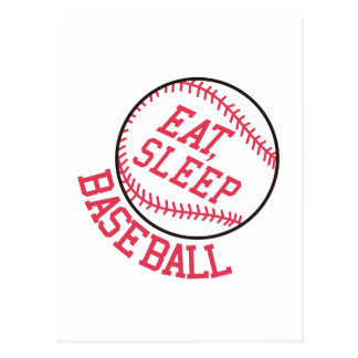 Eat, Sleep, Baseball Postcard