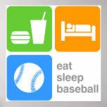 Eat Sleep Baseball Poster