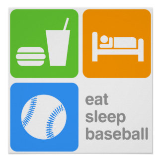 Eat Sleep Baseball Poster
