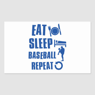 Eat sleep Baseball Rectangular Sticker