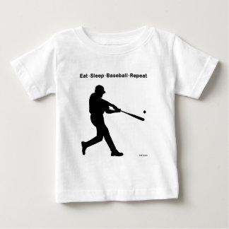 Eat Sleep Baseball Repeat Baby T-Shirt