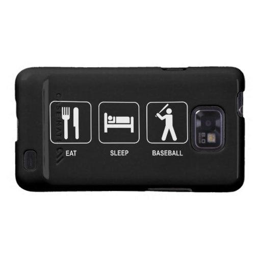 Eat Sleep Baseball Samsung Galaxy S2 Cases