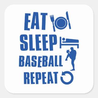 Eat sleep Baseball Square Sticker