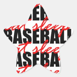 Eat Sleep Baseball Star Sticker