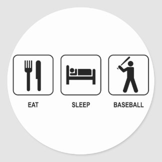 Eat Sleep Baseball Sticker