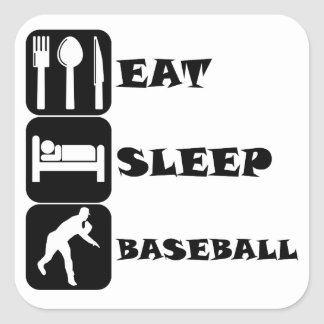 Eat Sleep Baseball Stickers