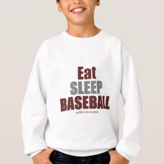 Eat sleep baseball sweatshirt