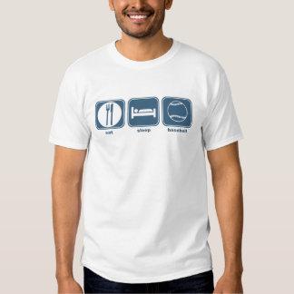 eat sleep baseball tee shirts