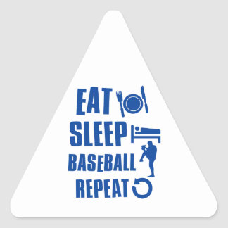 Eat sleep Baseball Triangle Sticker