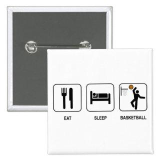 Eat Sleep Basketball Button