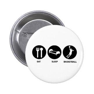 Eat Sleep Basketball Pinback Buttons