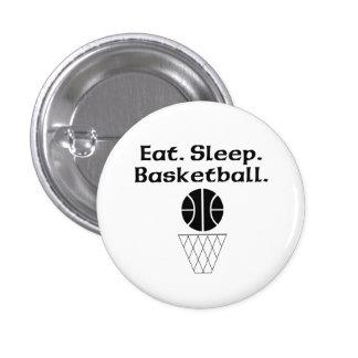 Eat Sleep Basketball Pinback Button