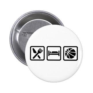 Eat Sleep Basketball 2 Inch Round Button
