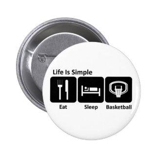 Eat Sleep Basketball Pins