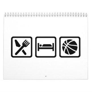 Eat Sleep Basketball Calendar