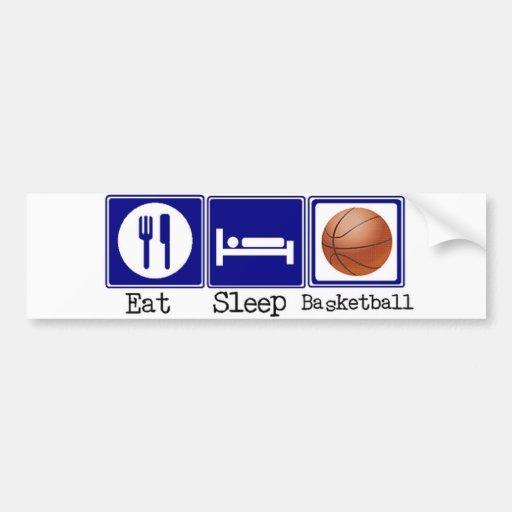 Eat, Sleep, Basketball Car Bumper Sticker