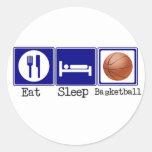 Eat, Sleep, Basketball Classic Round Sticker