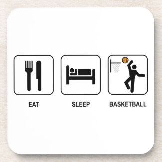 Eat Sleep Basketball Drink Coaster
