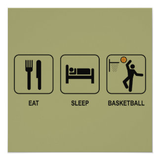 Eat Sleep Basketball Invitation