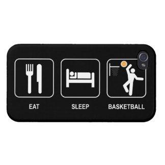 Eat Sleep Basketball iPhone 4/4S Cases