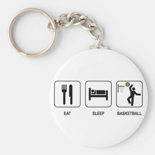 Eat Sleep Basketball Keychain