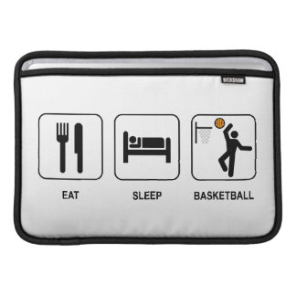 Eat Sleep Basketball MacBook Sleeve