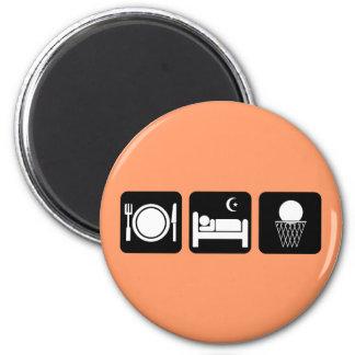 eat sleep basketball magnet