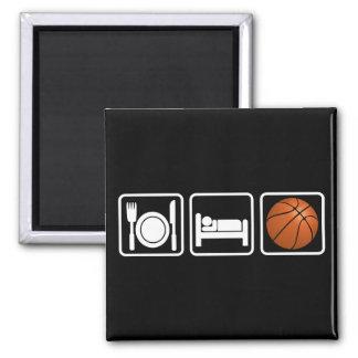 Eat, Sleep, Basketball Magnet