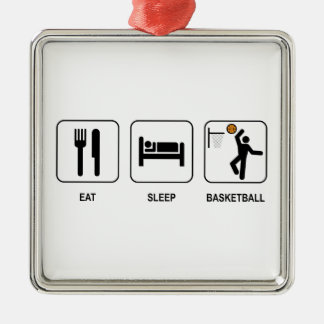 Eat Sleep Basketball Metal Ornament