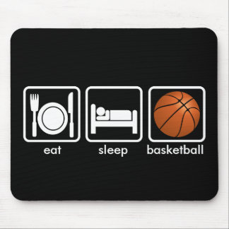 Eat, Sleep, Basketball Mouse Pad