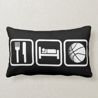 Eat Sleep Basketball Throw Pillow