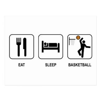 Eat Sleep Basketball Postcard