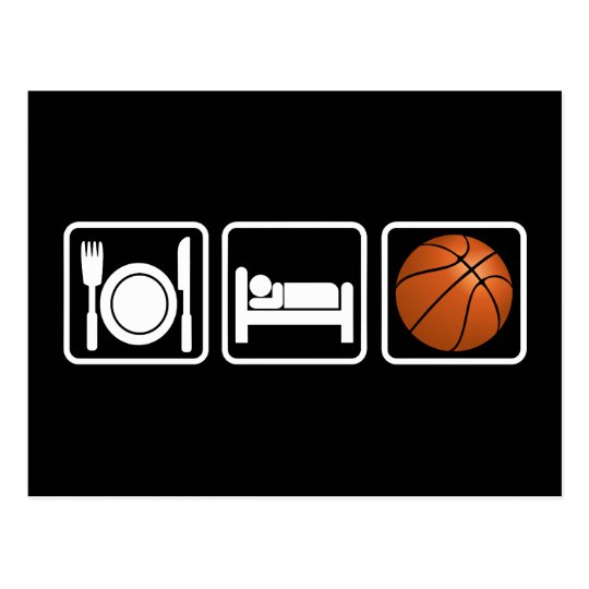 Eat, Sleep, Basketball Postcard