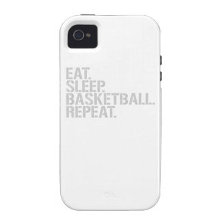 Eat Sleep Basketball Repeat Case-Mate iPhone 4 Covers