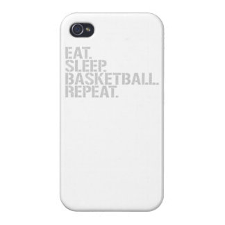 Eat Sleep Basketball Repeat iPhone 4/4S Covers