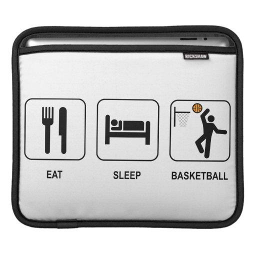 Eat Sleep Basketball Sleeves For iPads