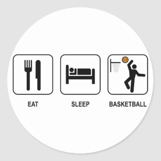 Eat Sleep Basketball Sticker