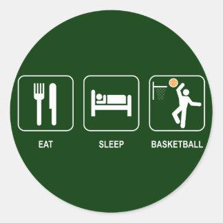 Eat Sleep Basketball Sticker