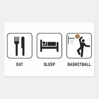 Eat Sleep Basketball Rectangle Sticker